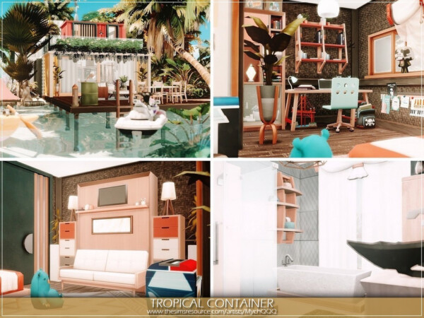 The Sims Resource: Tropical Container House by MychQQQ