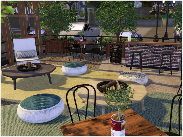 The Sims Resource: Wooden Caffee by lotsbymanal