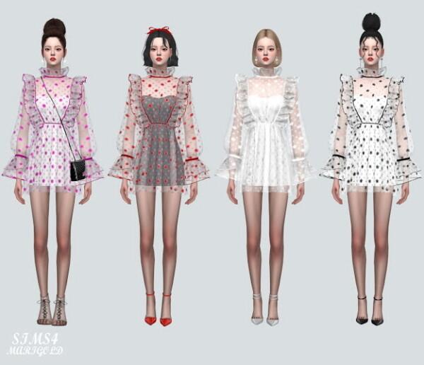 Star See Through Mini Dress from SIMS4 Marigold