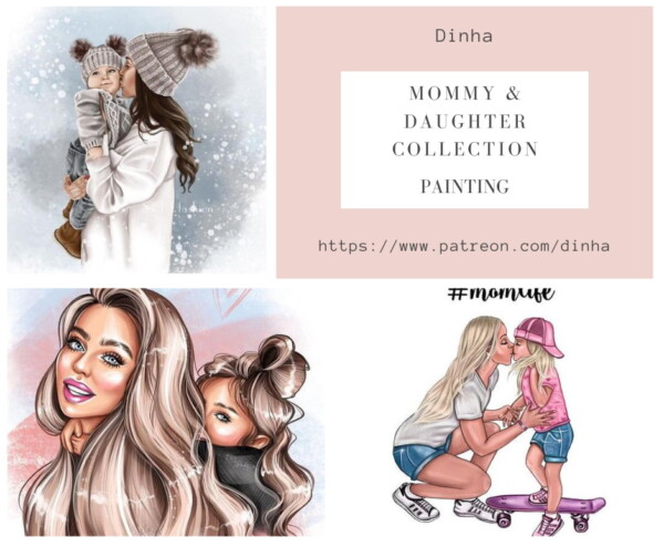 Mommy and Daughter Collection Rug and Paintings from Dinha Gamer