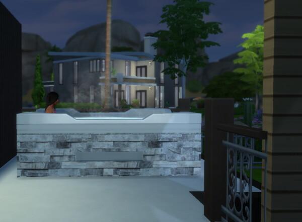 Mod The Sims: Modern Hot Tub by hellokittay