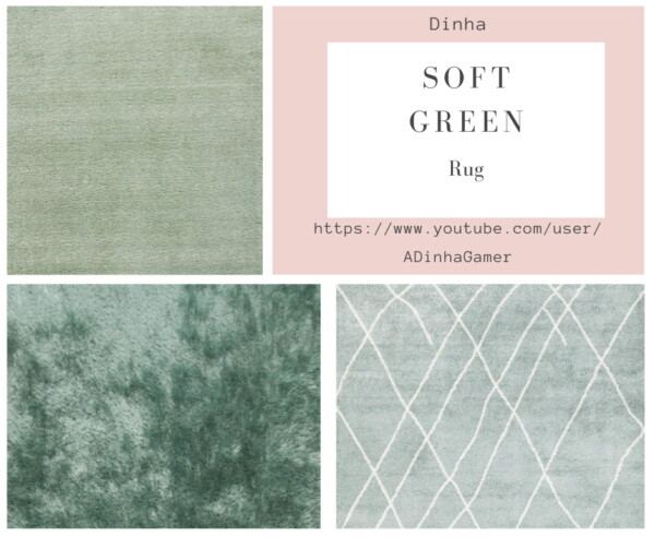 Dinha Gamer: Soft Green Collection Painting and Rug