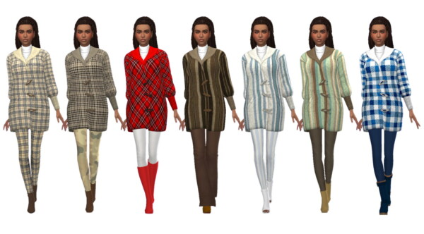 Sims 4 Sue: Teddy Coat Recolored