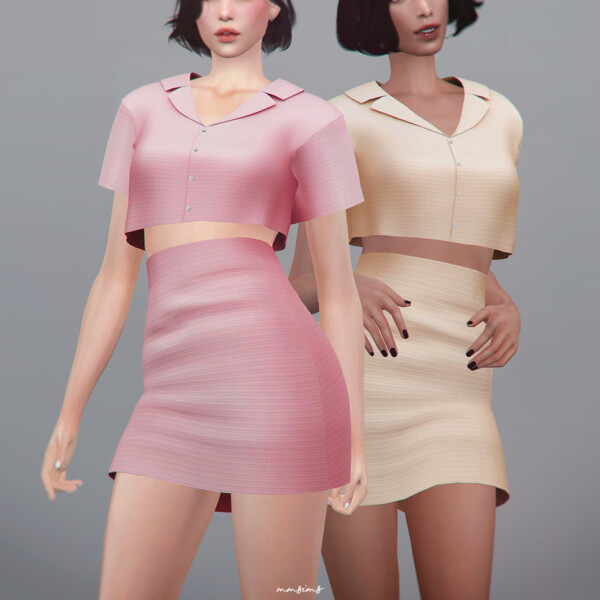 MMSIMS: 18th Crop Shirt and Skirt