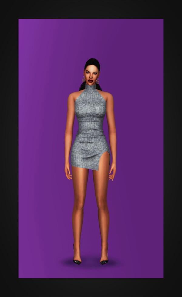 Gorilla: Ribbed Turtleneck Dress