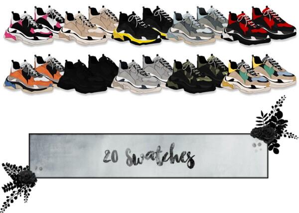 LumySims: Glare shoes