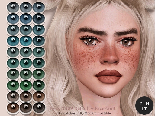 MSQ Sims: Eyes NB09 Default and FacePaint