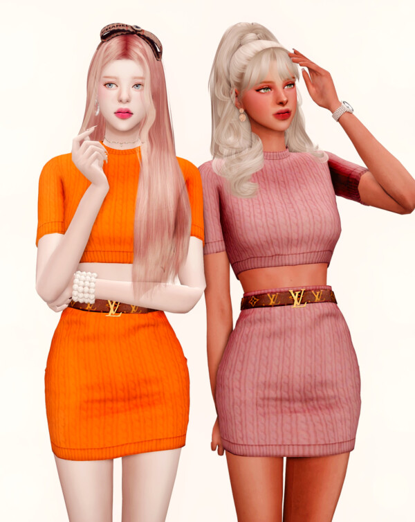 Rimings: Knit Top and Skirt
