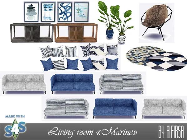 Aifirsa Sims: Marine Livingroom