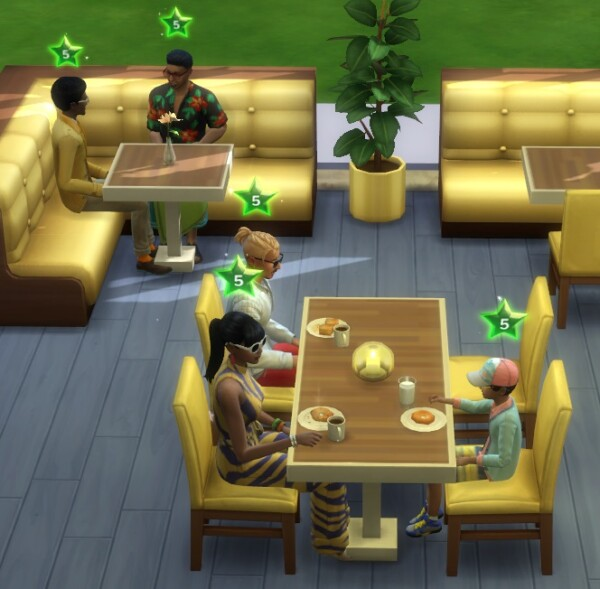 Maxed Restaurant Start at 5 Stars by spgm69 from Mod The Sims