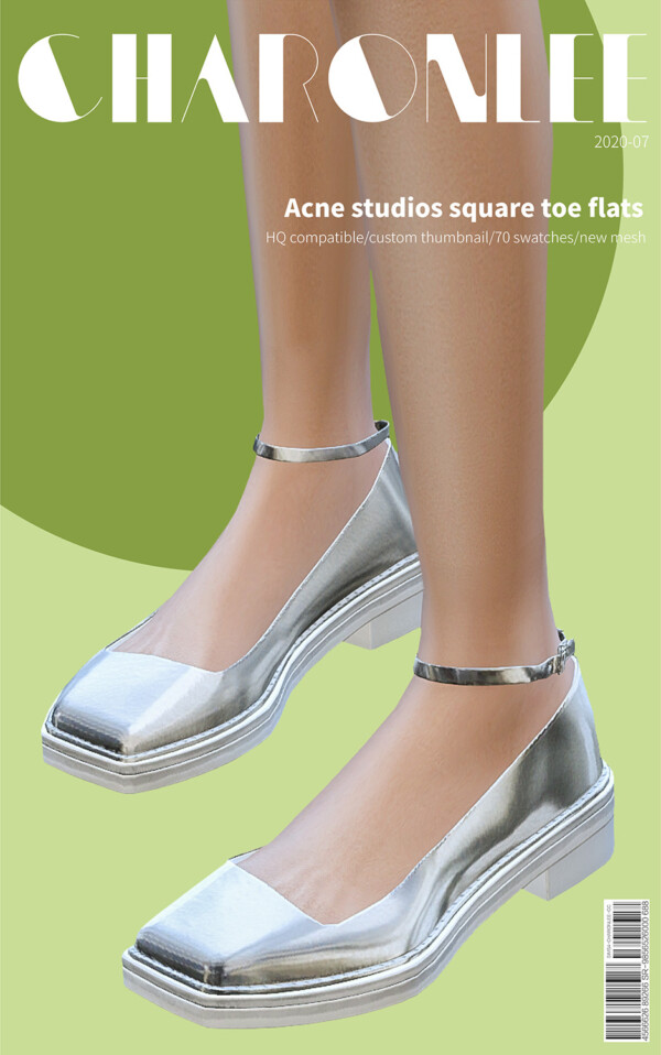Acne studios square toe flats from Charonlee