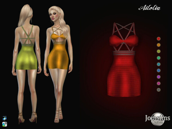 The Sims Resource: Ailolia dress by jomsims