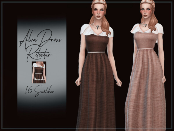 The Sims Resource: Alva Dress by Reevaly