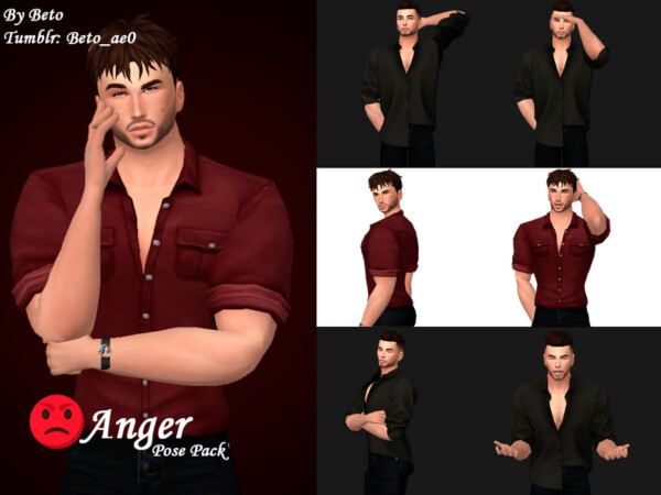 The Sims Resource: Anger Pose pack by Beto ae0
