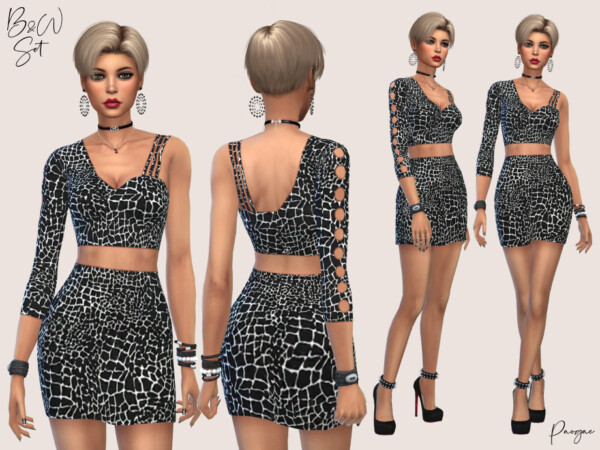 The Sims Resource: Top and Skirt Set by Paogae