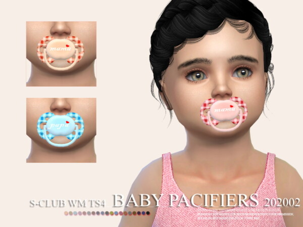 The Sims Resource: Baby Pacifiers 202002 by S Club