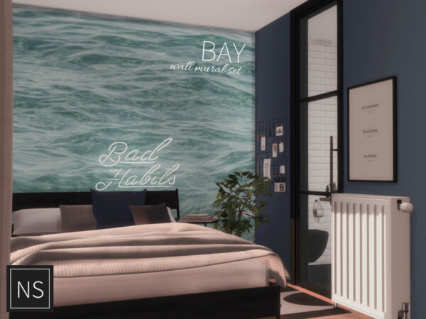 The Sims Resource: Bay Wall Murals by Networksims