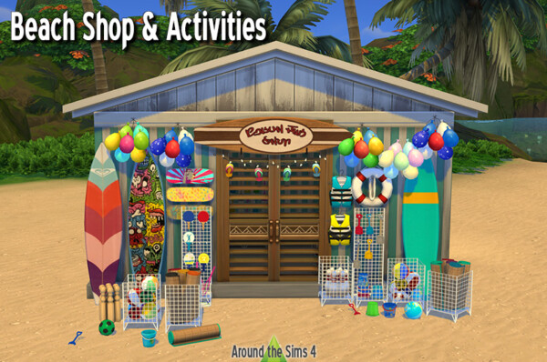 Around The Sims 4: Beach Shop and Activities