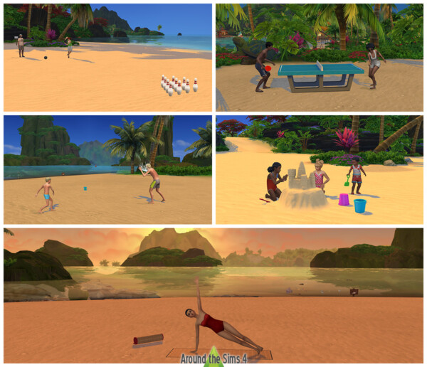 Around The Sims 4: Beach activities