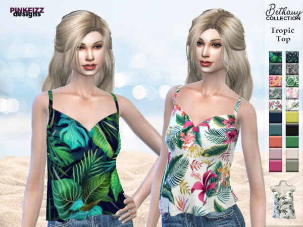 The Sims Resource: Bethany Tropic Top by Pinkfizzzzz