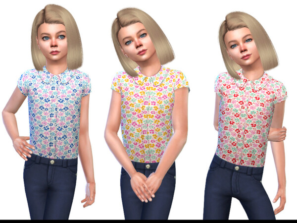 The Sims Resource: Blouse for Girls 01 by Little Things