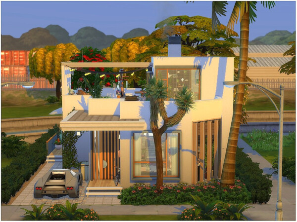 The Sims Resource: Boho Industrial House by lotsbymanal