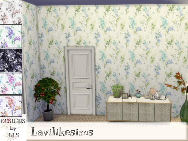 The Sims Resource: Botanical Wonder Walls by lavilikesims