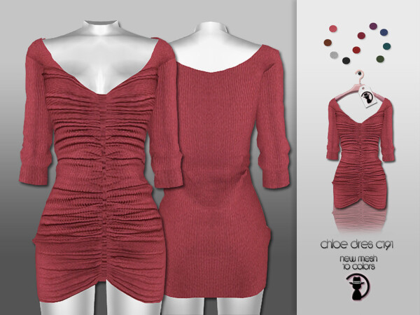 The Sims Resource: Chloe Dress C191 by turksimmer