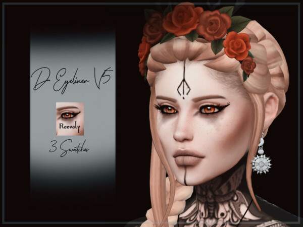 The Sims Resource: D Eyeliner V5 by Reevaly