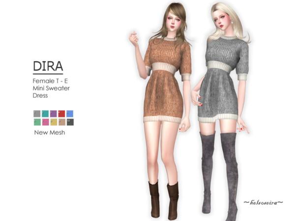 The Sims Resource: Dira Sweater Dress by Helsoseira