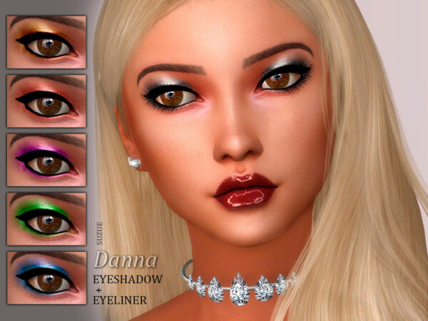 The Sims Resource: Danna Eyeshadow by Suzue