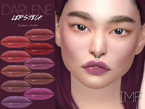 The Sims Resource: Darlene Lipstick N.274 by IzzieMcFire