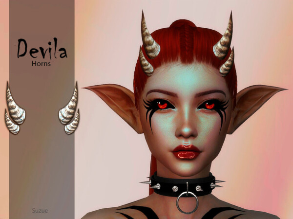 The Sims Resource: Devila Horns by Suzue