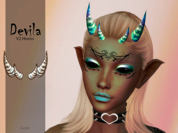 The Sims Resource: Devila Horns V2 by Suzue