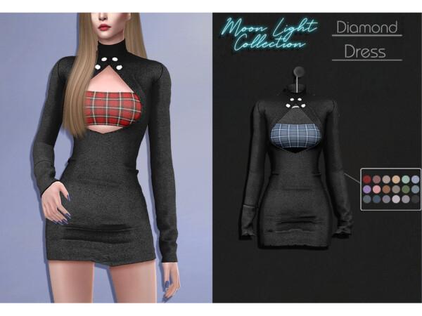 The Sims Resource: Diamond Dress by Lisaminicatsims