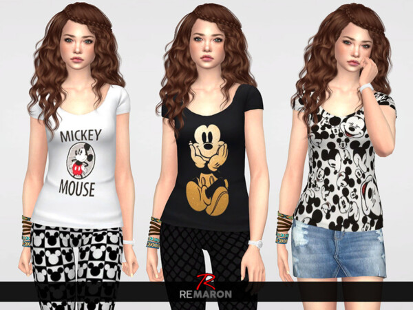 The Sims Resource: Disneys Shirt for Women 01 by remaron