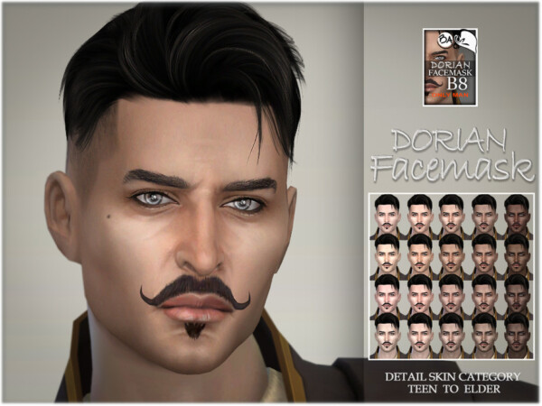 The Sims Resource: Dorian facemask by BAkalia