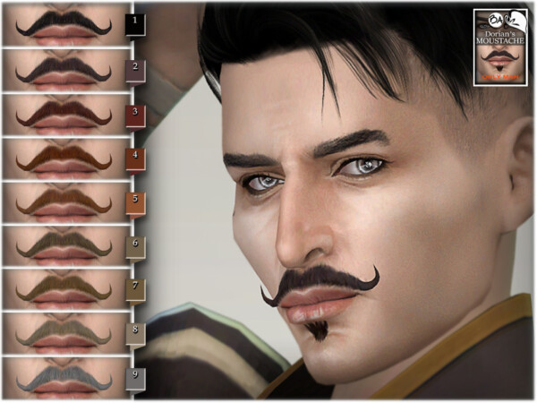 The Sims Resource: Dorians moustache by BAkalia