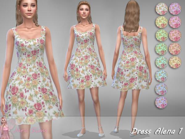 The Sims Resource: Dress Alena by Jaru Sims