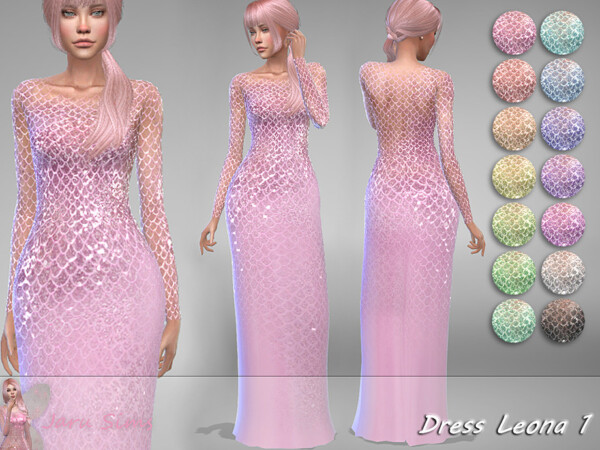 The Sims Resource: Dress Leona 1 by Jaru Sims