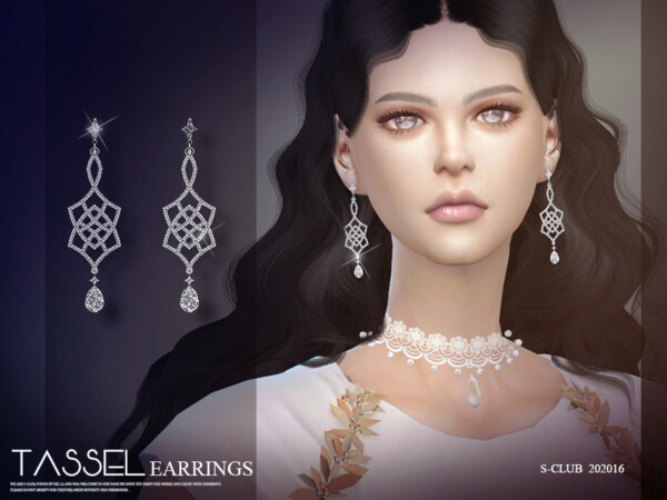 The Sims Resource: Earrings 202016 by S Club