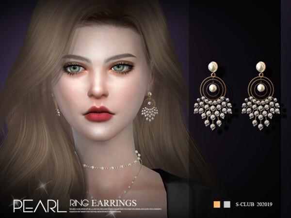 Earrings LL 202019 by S Club from TSR
