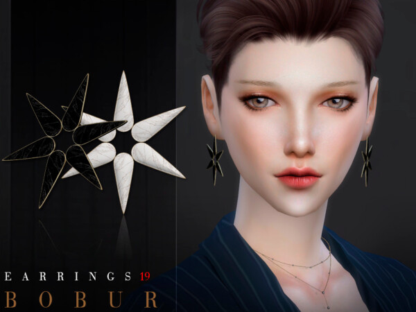 The Sims Resource: Earrings 19 by Bobur3
