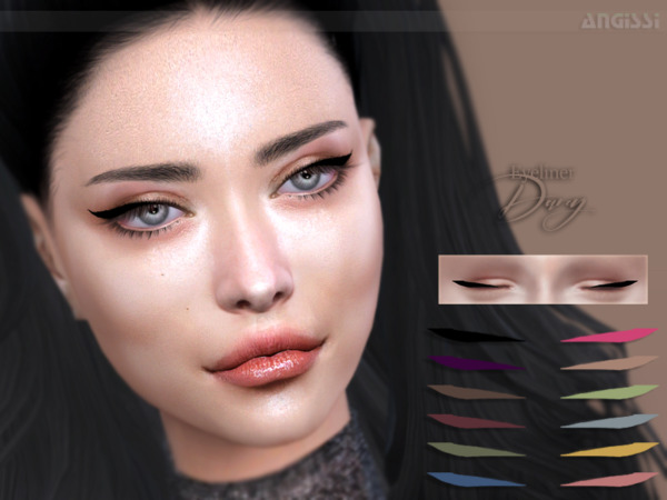 The Sims Resource: Eyeliner Darcy by ANGISSI
