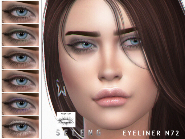 The Sims Resource: Eyeliner N72 by Seleng