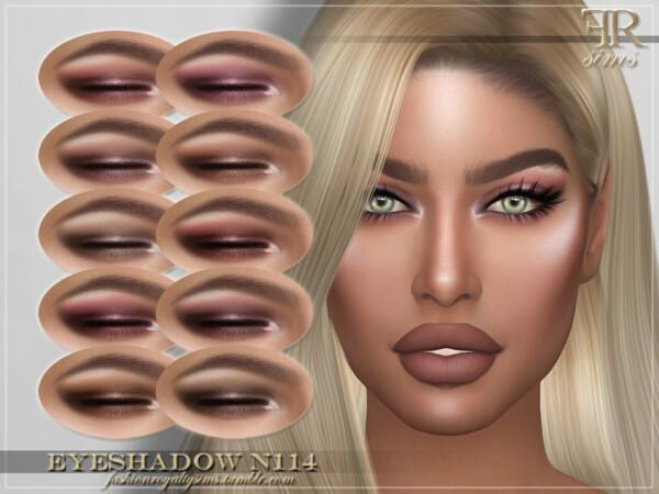 The Sims Resource: Eyeshadow N114 by FashionRoyaltySims