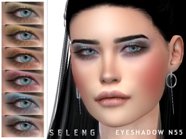 The Sims Resource: Eyeshadow N55 by Seleng