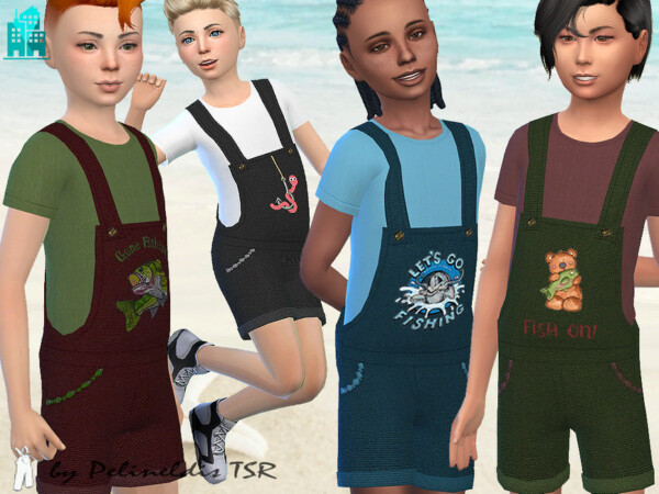 The Sims Resource: Gone Fishing Overall by Pelineldis