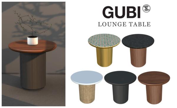 Leo 4 Sims: Gubi Lounge Table