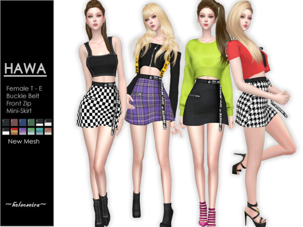 The Sims Resource: HAWA   Mini Skirt by Helsoseira